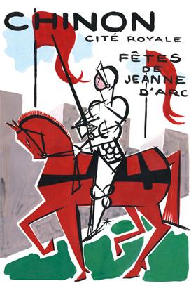Jeanne d'Arc Chinon 1956 sans date