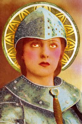 Jeanne d'Arc aureolée