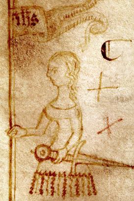 Jeanne d'Arc croquée à la plume