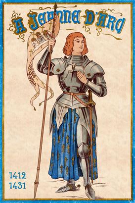 Jeanne d'Arc en oriflamme